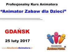 Szkolenie Animatorów Gdańsk – 25.02.2017