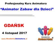 Kurs Animatora Gdańsk – 04.11.2017