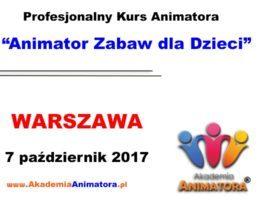 Kurs Animatora Warszawa – 07.10.2017