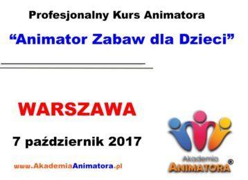 Kurs Animatora Warszawa 7.10.2017