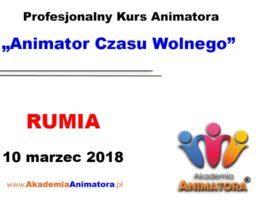 Kurs Animatora Czasu Wolnego Rumia – 10.03.2018